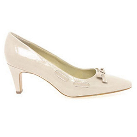 Peter Kaiser - Cream +milli+ crackle patent ladies court shoes