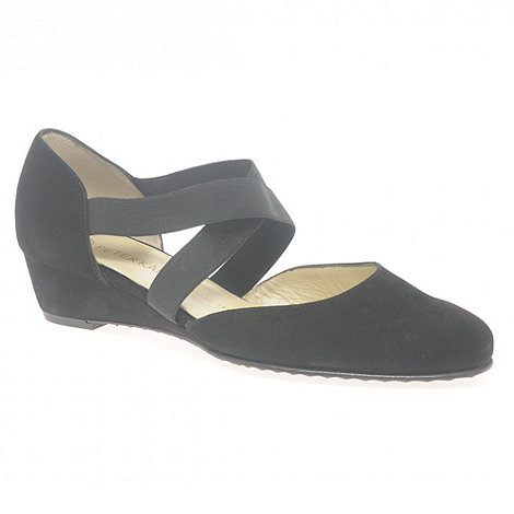 Peter Kaiser - Black +Jaila+ Ladies Suede Shoes