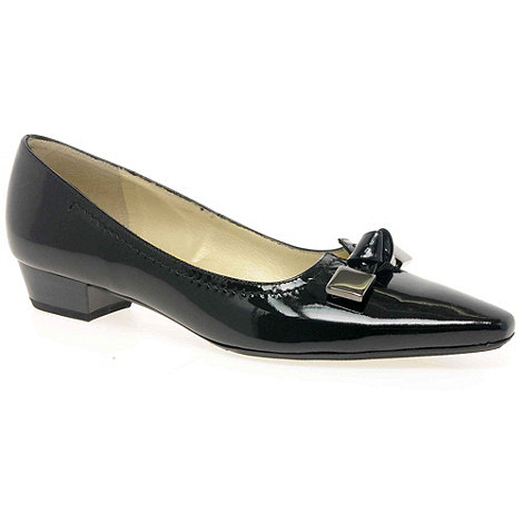Peter Kaiser - Black Patent 'Luxor' Ladies Court Shoes