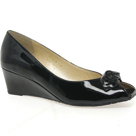 Van Dal - Black patent +Manila+ ladies court shoes