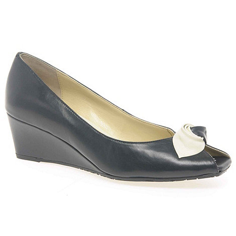 Van Dal - Navy +Manila+ Ladies Court Shoes