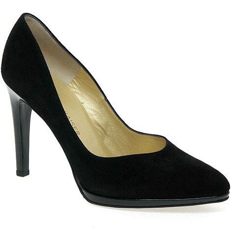 Peter Kaiser - Black patent +Herdi+ suede platform court shoe