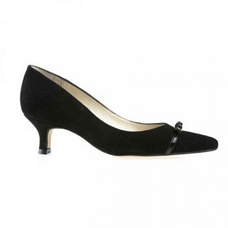 Van Dal - Black +Providence+ Ladies Suede Court Shoes