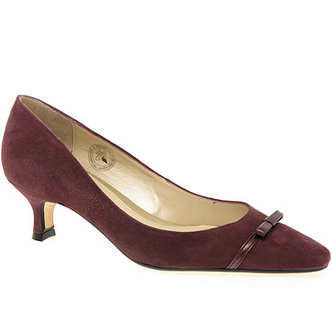 Van Dal - Maroon +Providence+ ladies suede court shoes