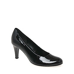 Gabor - Black patent 'lavender' classic court shoes