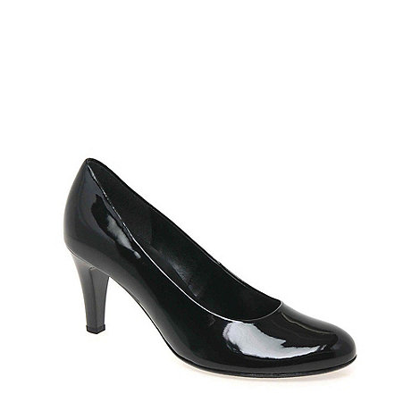 Gabor - Black patent +lavender+ classic court shoes