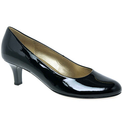 Gabor - Black Patent +Vesta+ Womens Leather Court Shoes