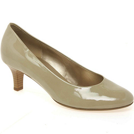 Gabor - Beige 'vesta' womens leather court shoes