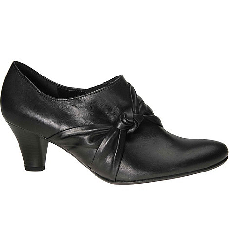 Gabor - Black Agnes Womens Black Leather High Cut Court Shoes