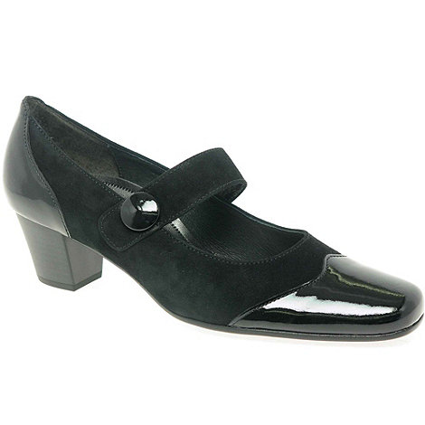 Gabor - Black casino court shoes