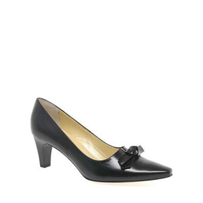 Peter Kaiser Black leola leather court shoes