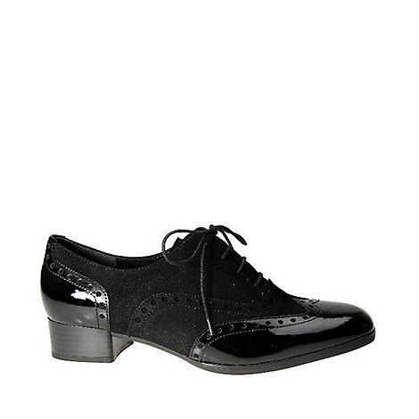 Gabor - Black foxy ladies black lace up brogues