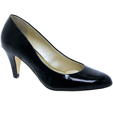Van Dal - Black Patent +Holt+ Patent Court Shoes