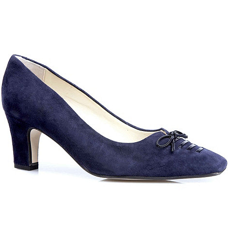 Van Dal - Navy +Taverham+ Suede Court Shoes