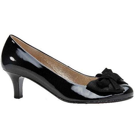 Gabor - Black patent +maldives+ womens dress court shoes