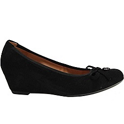 Gabor - Black Amorette Womens Wedge Heeled Court Shoes