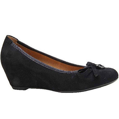 Gabor - Navy Amorette Womens Wedge Heeled Court Shoes