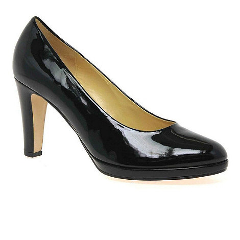 Gabor - Black patent splendid womens dress court shoes