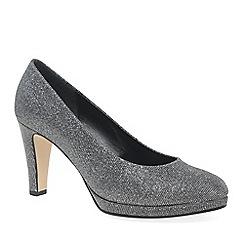 Gabor - Silver 'Splendid' high heeled court shoes