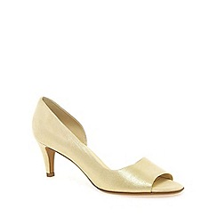 Peter Kaiser - Light gold 'Jamala II' womens open toe court shoes