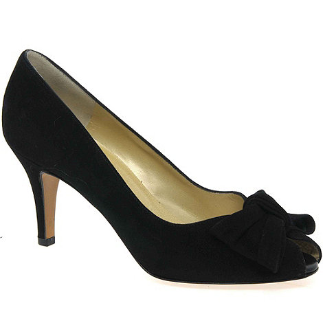 Peter Kaiser - Black Samos Womens Suede Court Shoes