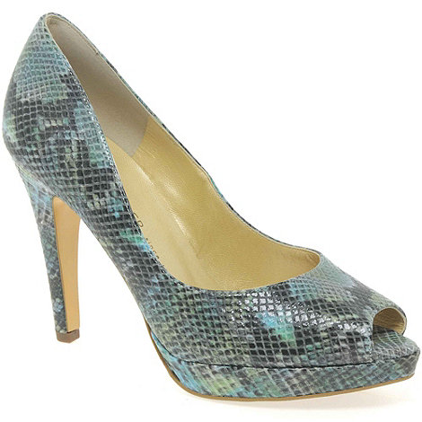 Peter Kaiser - Turquoise Patu Womens High Heeled Open Court Shoes