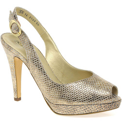 Peter Kaiser - Gold Pepsy Womens Open Toe Court Shoes