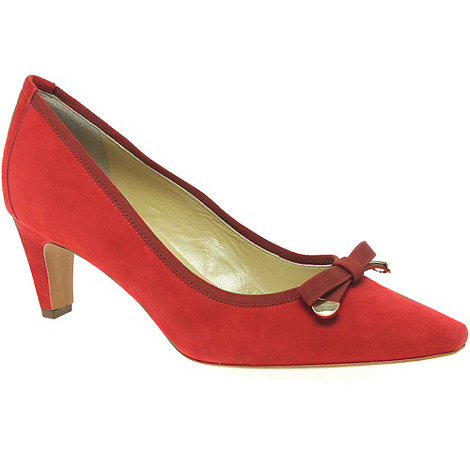 Peter Kaiser - Red Maira Womens Suede Court Shoes