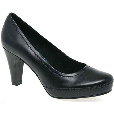 Marco Tozzi - Black Hidden Womens High Heeled Court Shoes