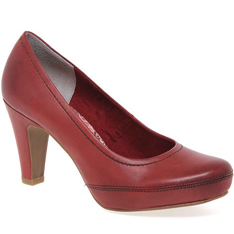 Marco Tozzi - Red Hidden Womens High Heeled Court Shoes