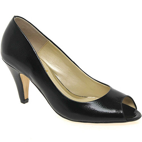Van Dal - Black Patent Holkham Womens Open Toe Court Shoes