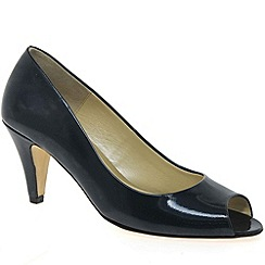 Van Dal - Navy 'Holkham' womens open toe court shoes
