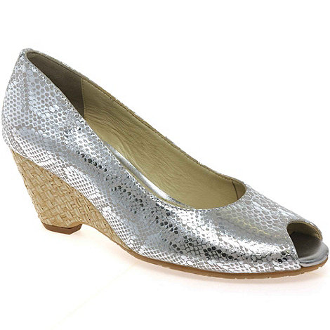 Van Dal - Silver 'Malta' womens wedge heeled shoes