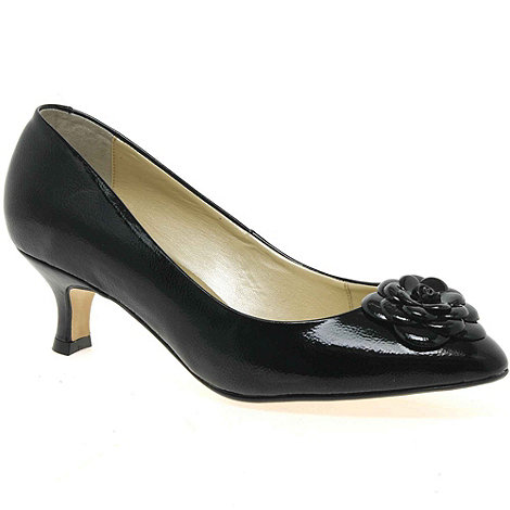 Van Dal - Black patent +elveden+ womens court shoes