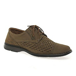 Josef Seibel - Taupe 'Saxon' mens casual lace up shoes