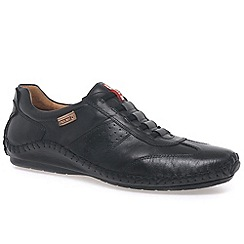 Pikolinos - Black 'Freeway' mens casual leather shoes