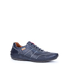 Pikolinos - Navy 'Freeway' mens casual leather shoes