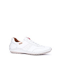 Pikolinos - White 'Freeway' mens casual leather shoes
