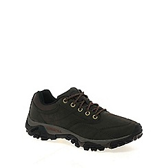 Merrell - Dark brown 'moab rover' mens lace up waterproof shoes