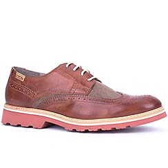 Pikolinos - Brown 'Perth' Mens Leather Casual Shoes
