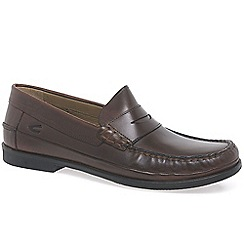 Camel Active - Dark brown 'Harvest' mens lightweight moccasins
