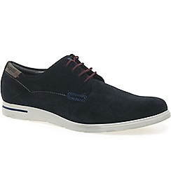 Bugatti - Navy 'main' mens suede derby shoes