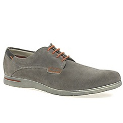 Bugatti - Grey 'main' mens suede derby shoes