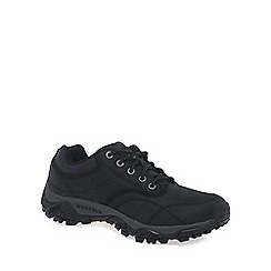 Merrell - Black 'Moab Rover' mens black leather hiking shoes