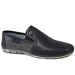 Bugatti - Navy 'Cruz' Mens Casual Slip On Shoes