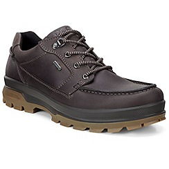 Ecco - Dark brown 'Rugged Track' mens goretex shoes