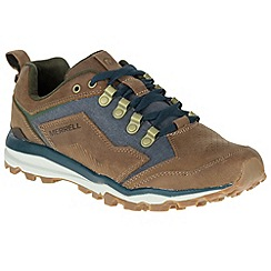 Merrell - Brown 'All Out Crusher' mens casual sports trainers