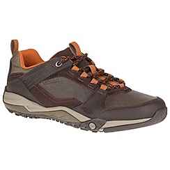 Merrell - Brown 'Helixer Scape' mens casual sports trainers