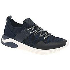 Fly London - Blue 'Suba' mens lightweight sports trainers