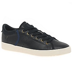 Fly London - Black leather 'Bose' casual trainers